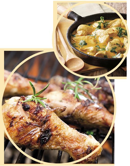 images repas poulet